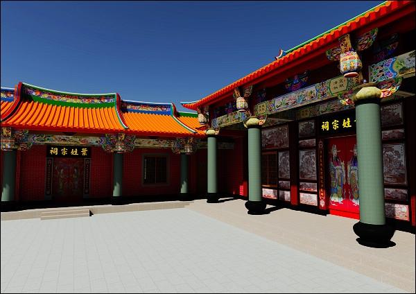 南方式寺庙3d绘图15     产品名称 宗祠3d绘图     产品介绍 闽南